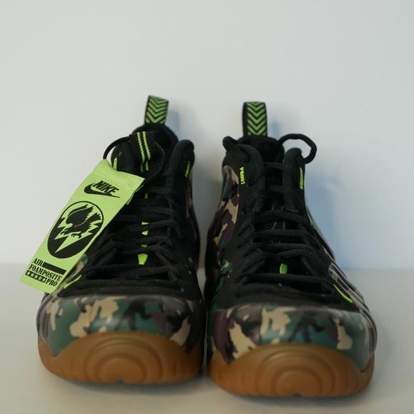quality design 56549 47881 Nike Air Foamposite Pro Green Camo Size 14